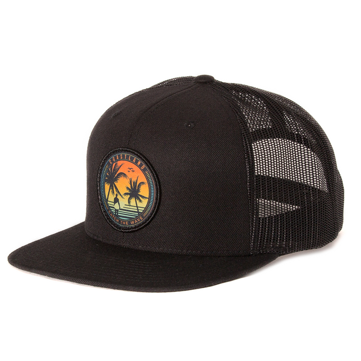 Catch The Wave Black Snapback