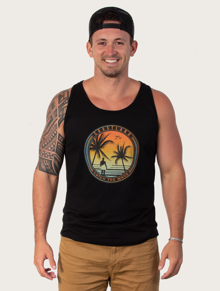Black Catch Your Wave Tank