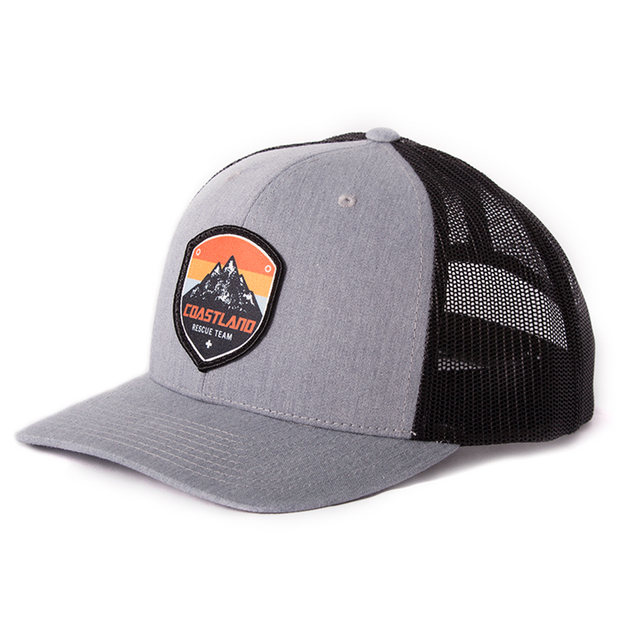 Gray Rescue Patch Snapback