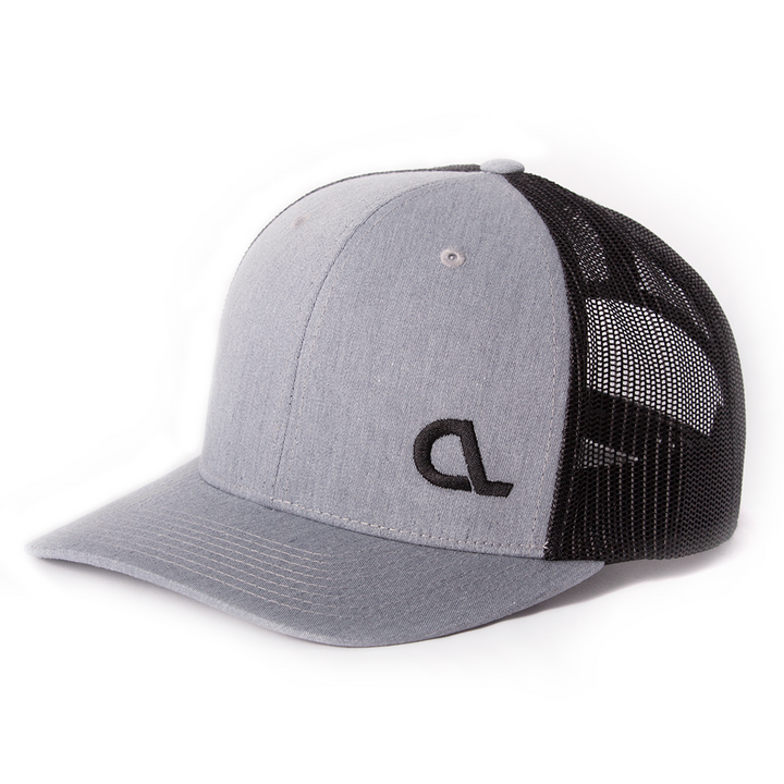 Gray Side Stitch Snapback