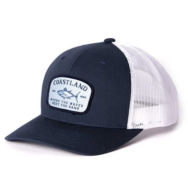 Navy White Fish Snapback
