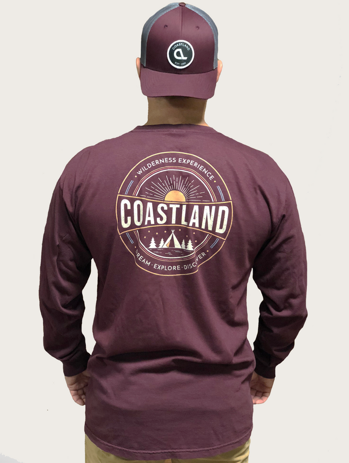 Burgundy Wilderness Longsleeve