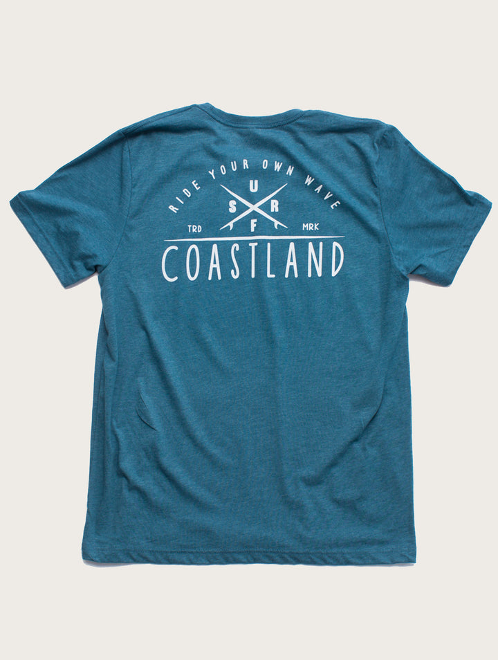 Teal Point Break Tee