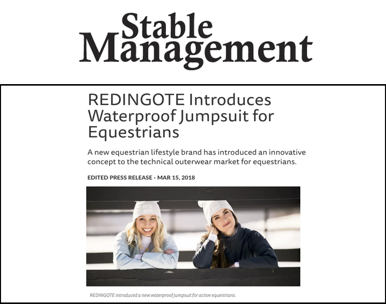Redingote Equestrian Press - Stable Management