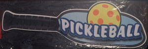 Pickleball paddle and ball wiper tag