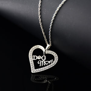 Dog Mom Heart Pendant Necklaces