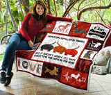 Dachshund Mom Christmas Quilt