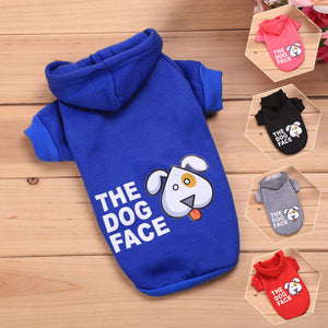 """THE DOG FACE"" Cotton Hoodie"