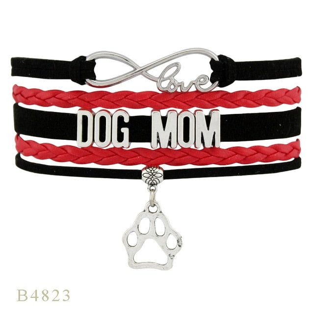 Dog Mom Paw Charm Bracelet
