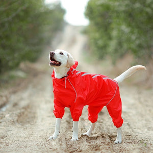 Four Feet Dog Raincoat Reflective