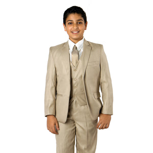 Tazio Beige Formal Classic Fit Suits For Boys
