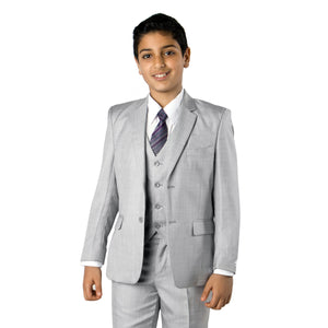 Tazio Medium Grey Formal Classic Fit Suits For Boys