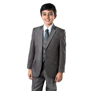 5 PC Boy's Herringbone Suit With Free Matching Shirt & Tie Suits For Boy's