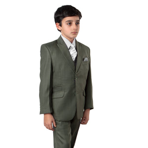 5-PC Boy's Solid Suit with Matching Shirt & Tie Suits For Boy's