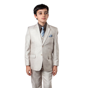 Tazio Light Beige Formal Suits For Boys