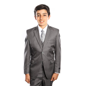 5-Pc Boy's Houndstooth Boys Suit With Matching Shirt & Tie Suits For Boy's