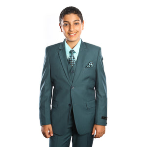 Tazio Nile Green Formal Suits For Boys