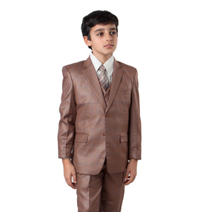3-Piece Boys Checkered Suit Set With Free Matching Shirt & Tie Suits For Boy's