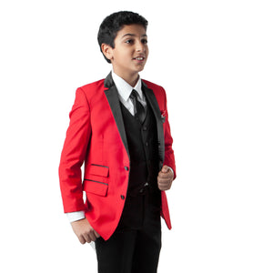 4 Pc Boy's Classic Fit w Free Matching Shirt & Tie Suits For Boy's