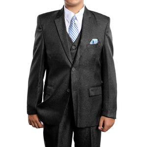 5 PC Boy's Solid Suit with Shirt & Tie Suits For Boy's