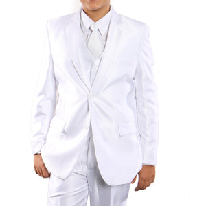 Sharkskin Boys Suit With Free Matching Shirt & Tie Suits For Boy's