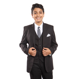5 Pc Boys Suit Set With Free Matching Shirt & Tie Suits For Boy's
