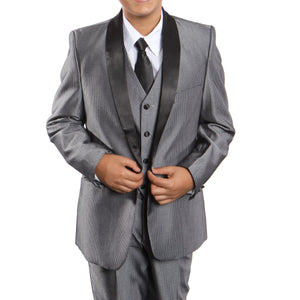 3-Piece Boy's Shawl Collar Suit With Shirt & Tie Suits For Boy's