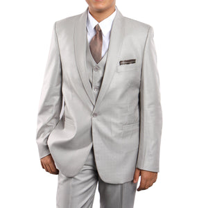 Shawl Collar Suit with Shirt & Tie Suits For Boy's