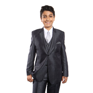 5 PC Boy's With Matching Shirt & Tie Suits For Boy's