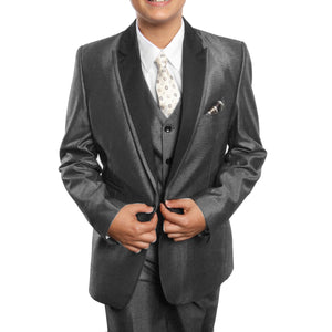 Tazio Grey Formal Suits For Boys