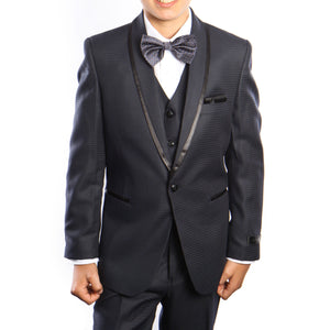 3-Piece Solid Shawl Lapel Suit Suits For Boy's