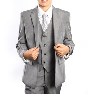 3-Piece Set With Shirt & Tie Suits For Boy's