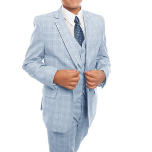Tazio Skyblue Formal Suits For Boys