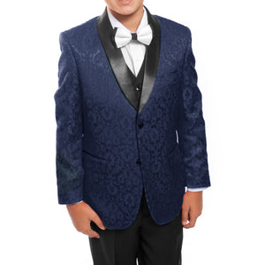 Tazio Navy / Black Formal Suits For Boys