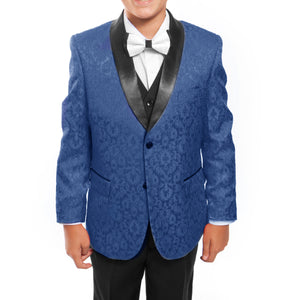 Tazio Royal / Black Formal Suits For Boys