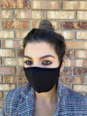Solids Style Face Mask | Washable & Reusable | Double Layer Mask | Comfortable | Made in USA