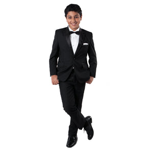 Tazio Black / Black Formal Suits For Boys