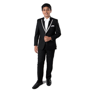 Tazio Black / White Formal Suits For Boys