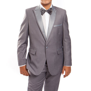 Tazio Grey / Dark Grey Formal Suits For Boys