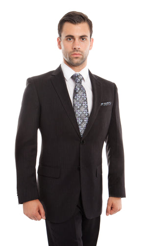Navy Solid 2-PC Regular Modern Fit Suits For Men