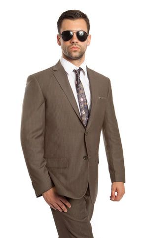 Lt. Olive 2-PC Modern Fit Suits Suits For Men