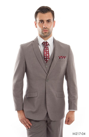 Dark Tan Suit For Men Formal Suits For All Ocassions M217S-04