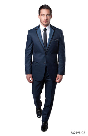Blue / Black Suit For Men Formal Suits For All Ocassions M219S-02