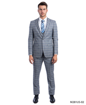 Gray/Burgundy Suit For Men Formal Suits For All Ocassions