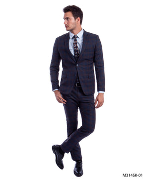 Blue/Brown Suit For Men Formal Suits For All Ocassions