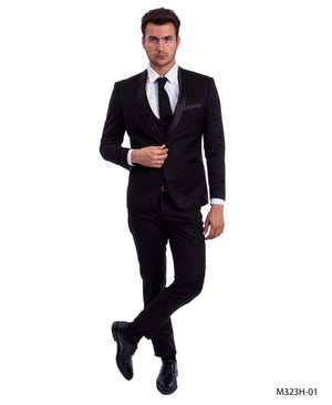 Black/Black Suit For Men Formal Suits For All Ocassions