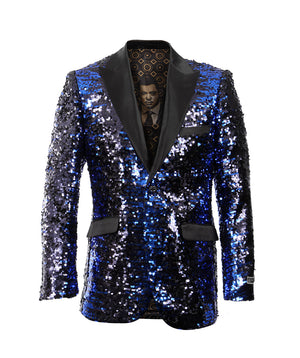 Blue/Black Empire Show Blazers Formal Dinner Suit Jackets For Men ME226-02