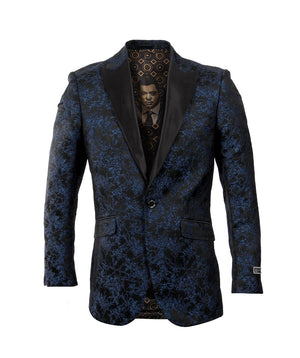 Blue/Black Empire Show Blazers Formal Dinner Suit Jackets For Men ME227-01