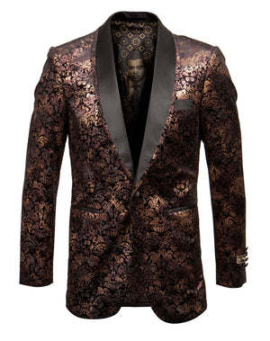 Gold/Black Empire Show Blazers Formal Dinner Suit Jackets For Men ME261H-01
