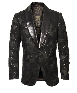 Black Empire Show Blazers Formal Dinner Suit Jackets For Men ME275H-01